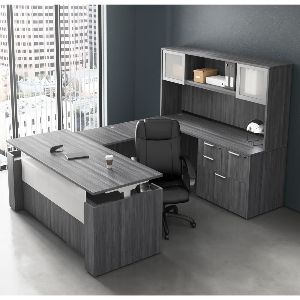 OfficeSource OS Laminate Lateral Files Combo Lateral File Cabinet Carousel Image