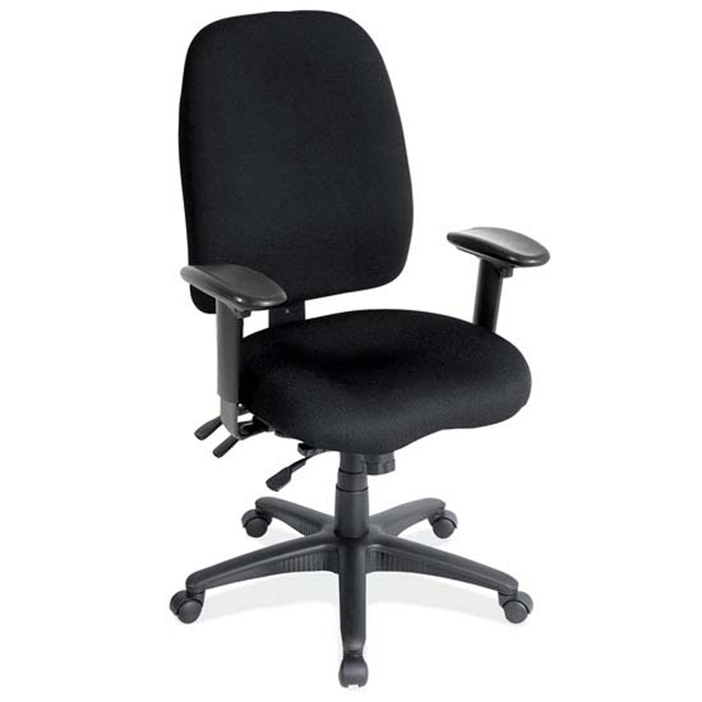 OfficeSource Advanced Collection High Back Task Chair with Adjustable Arms and Black Frame