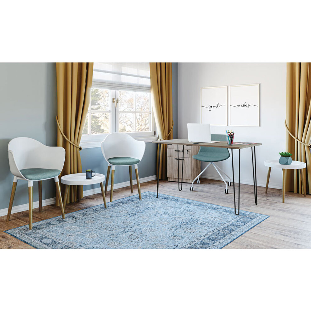 OfficeSource Allure Collection Modern Swivel Chair with White Metal Base Carousel Image