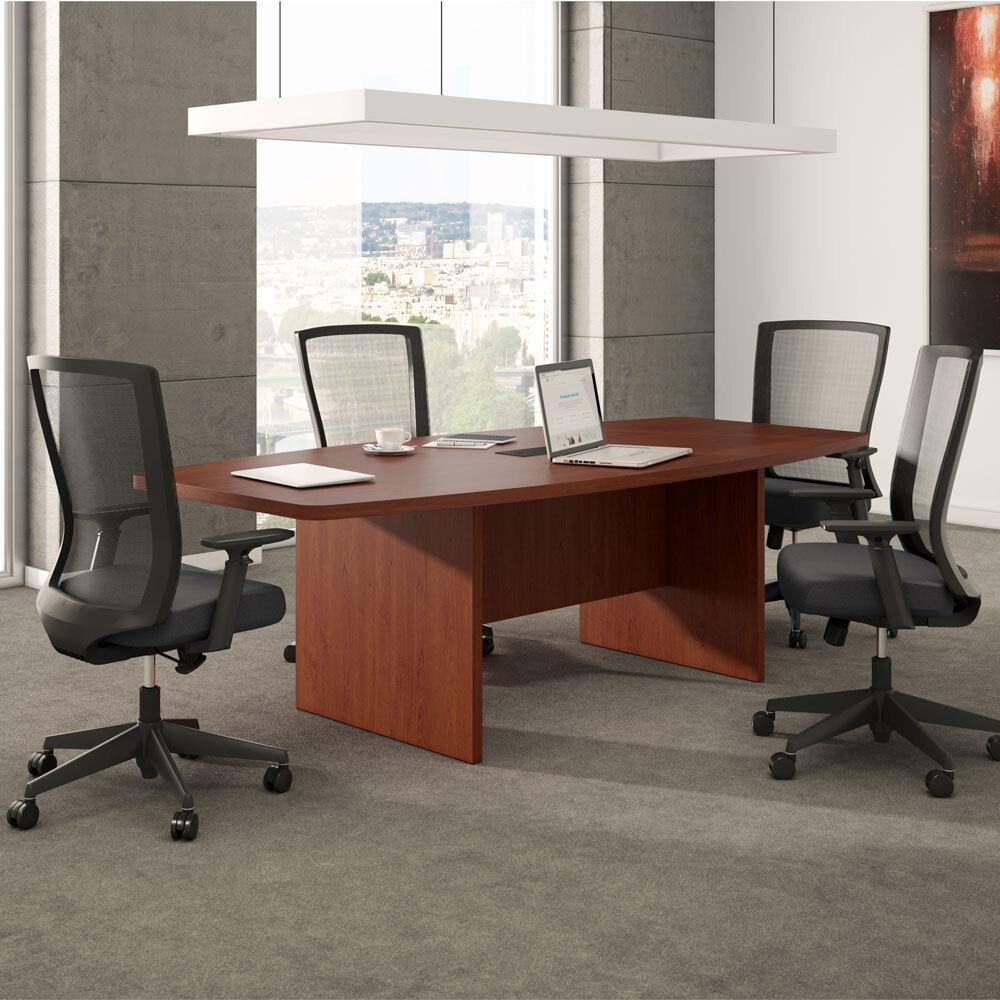 OfficeSource Cade Collection Executive Mesh Back Chair with Black Frame Carousel Image