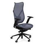 library-images-onda-9c1-high-back-black-frame-67C-SS-FT-adjustable-arms-nickel-mesh-high-profile-base-open-casters-front45