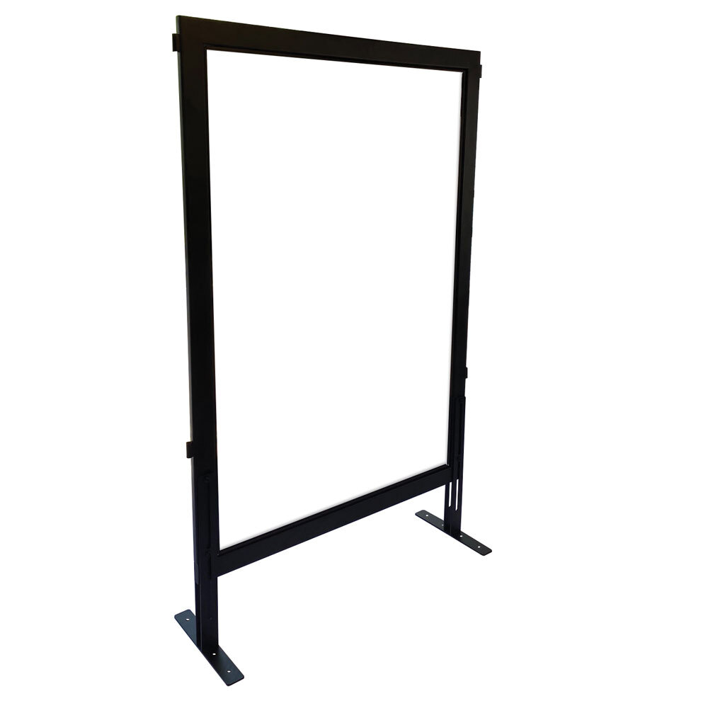 OfficeSource SafeGuard Barrier Collection Clear Acrylic Desk Top Screen with Black Frame