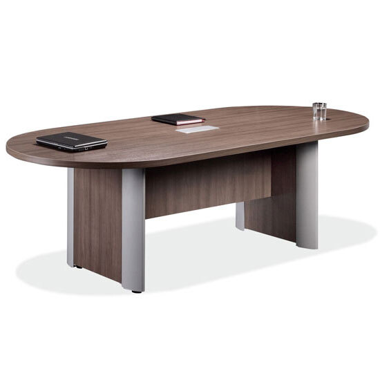 OfficeSource OS Conference Tables Racetrack Conference Table with Elliptical Base - PLELP136