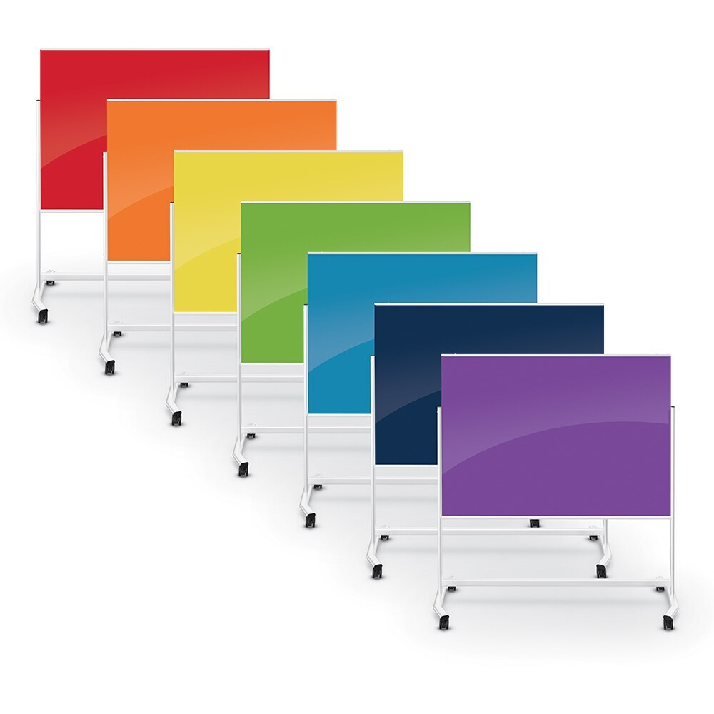 VISIONARY MOVE COLORS MOBILE MAGNETIC GLASS BOARD