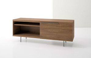 DECCA_INDEX R� CREDENZA METAL LEGS WITH LARGE DRAWER AND OPEN SHELF1