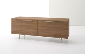 DECCA_INDEX R� CREDENZA METAL LEGS WITH TWO BOOKCASES1