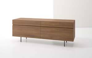 DECCA_INDEX R� CREDENZA METAL LEGS WITH TWO BOXFILES1