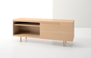 DECCA_INDEX R� CREDENZA WOOD LEGS WITH LARGE DRAWER AND OPEN SHELF1