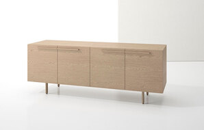 DECCA_INDEX R� CREDENZA WOOD LEGS WITH TWO BOOKCASES1