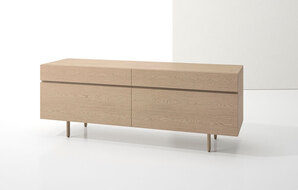 DECCA_INDEX R� CREDENZA WOOD LEGS WITH TWO BOXFILES1