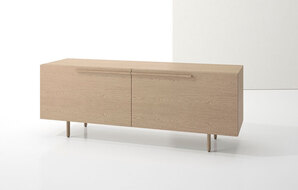 DECCA_INDEX R� CREDENZA WOOD LEGS WITH TWO LARGE DRAWERS1