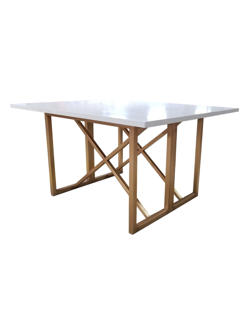 Custom Stone Table With Metal Base 1
