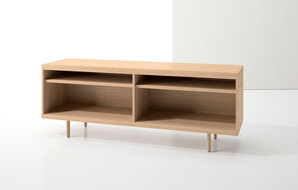 DECCA_INDEX R� CREDENZA WOOD LEGS WITH TWO OPEN SHELVES1