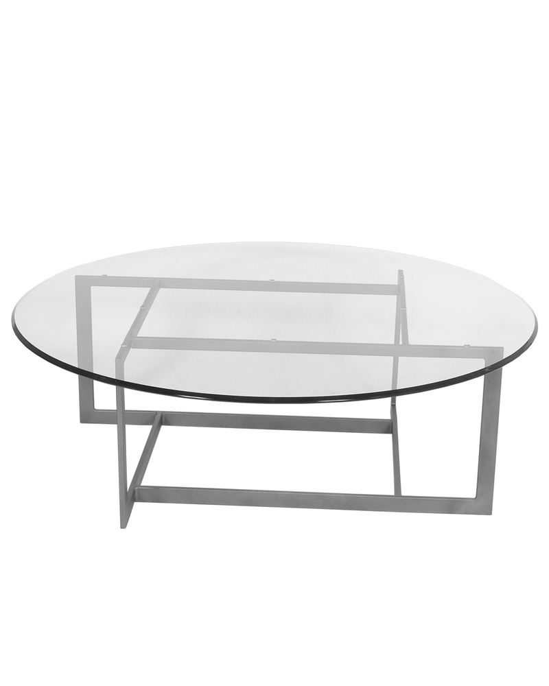 Custom Table with Glass Surface