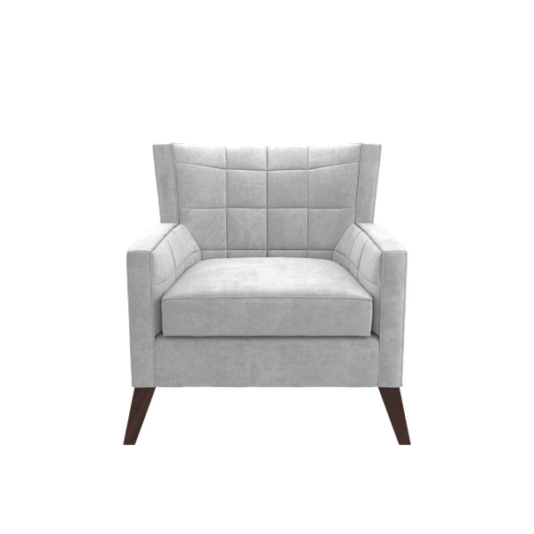 Cory Lounge Chair With Buttonless Tuft