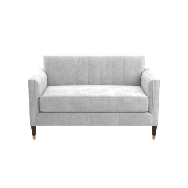 Ginger Settee With Ferrules