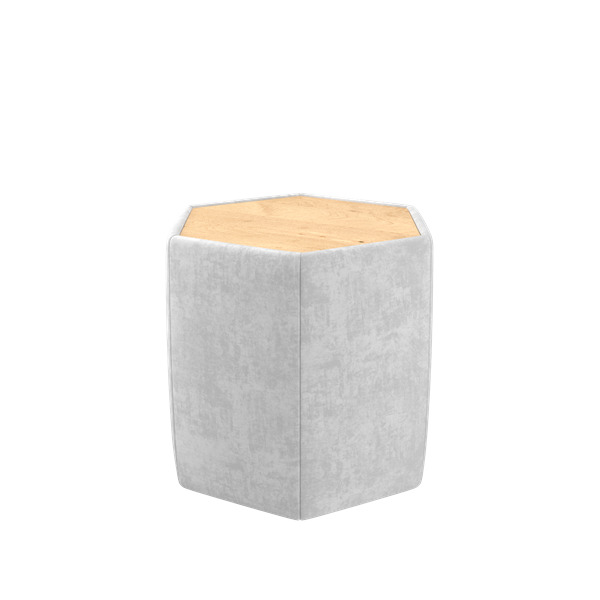Strauss Modular Ottoman W/ Casters And Laminate Top