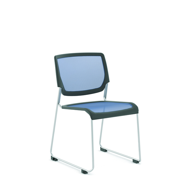 Poly Mesh Sled-Base Side Chair