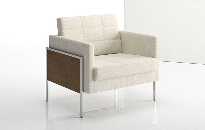 Ethos One Lounge Chair with Wood Panels
