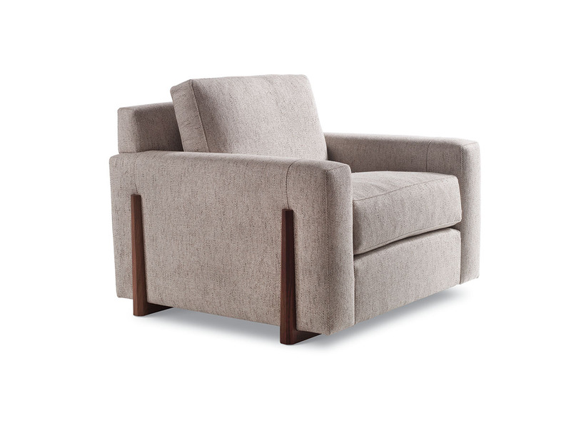 Egan Lounge Chair with tapered leg