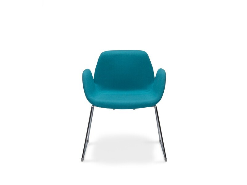 Halia Guest Meeting Chair with Sled Base