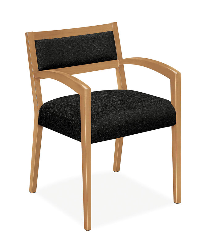 Cambia Upholstered Back Guest Chair