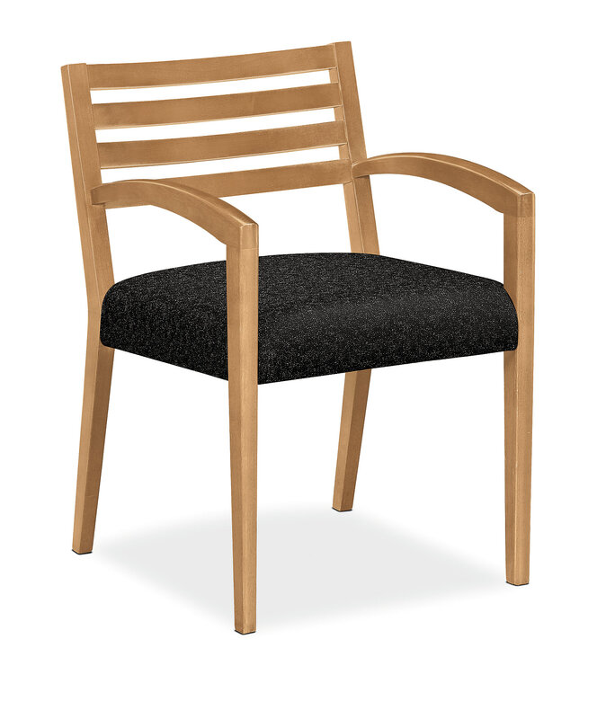 Cambia Wood Slat Back Guest Chair
