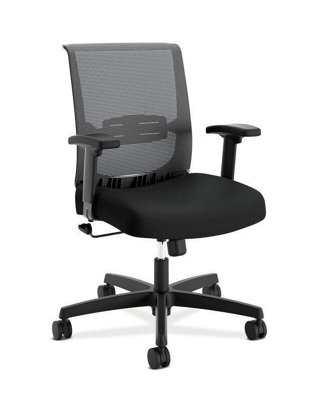 Convergence Task Chair   Height- and Width-Adjustable Arms