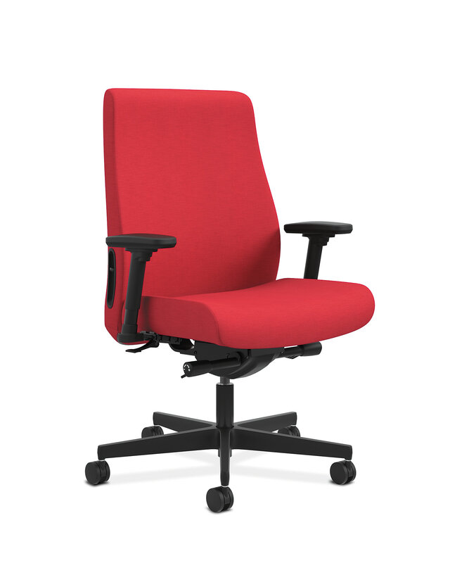 Endorse Mid-Back Task Chair | Big and Tall | Fabric Outer Back | Built-In Lumbar