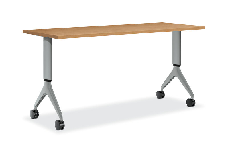 Motivate Rectangular Table with Height-Adjustable Base