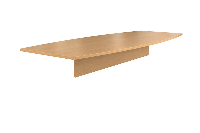 """Preside Laminate Table Top   Boat Shape   120""""W   2 Pieces"""