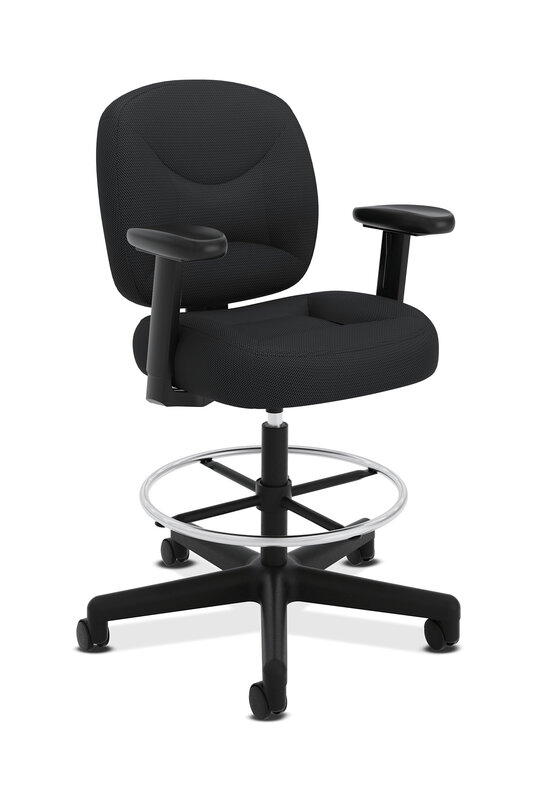 ValuTask Task Stool | Extended Height, Footring | Adjustable Arms