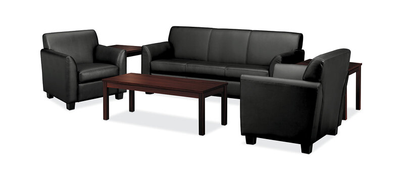 Circulate Seating for Five with Coffee Table and End Table
