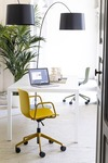 Marte Alfa 5 star base in aluminium with armrests office7
