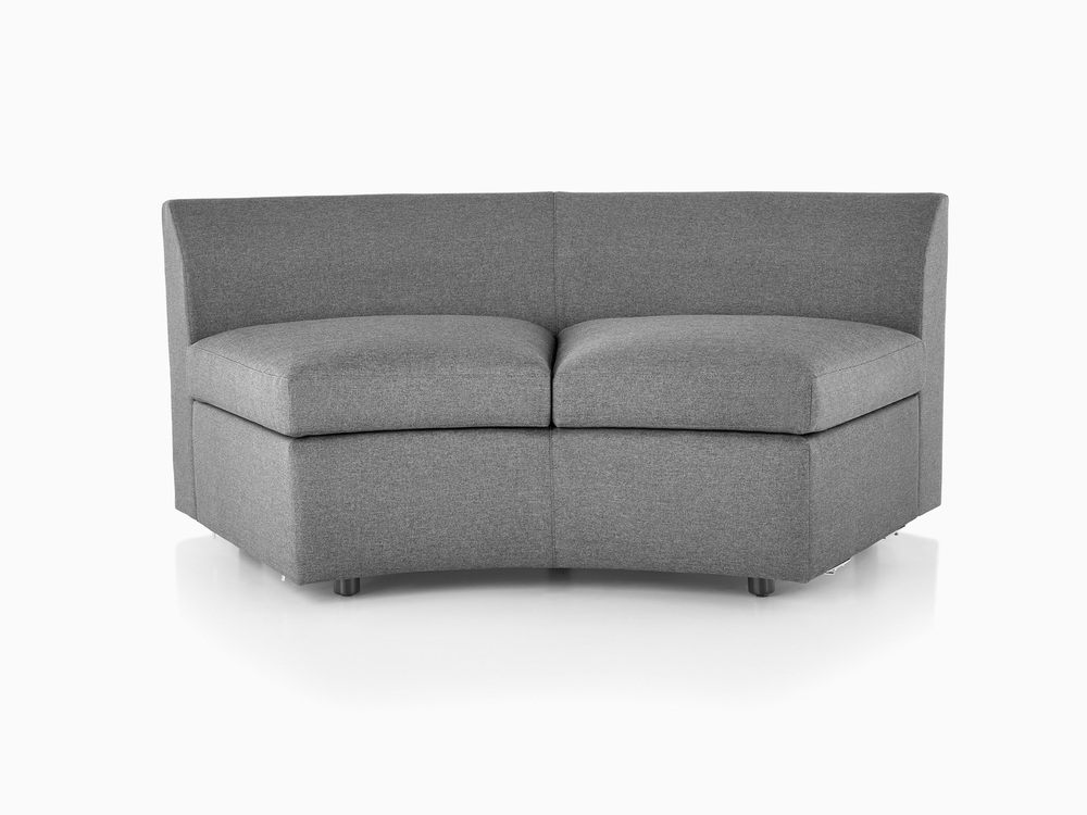 Bevel Curved Settee