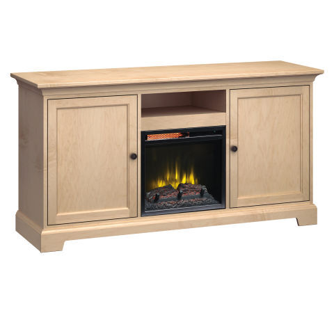 """63"""" Wide Fireplace Console: Two Large Doors"""