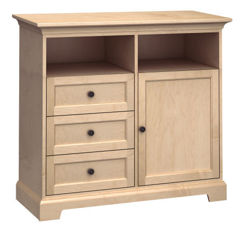 """46"""" Wide TV Console: One Door, Three Drawers"""
