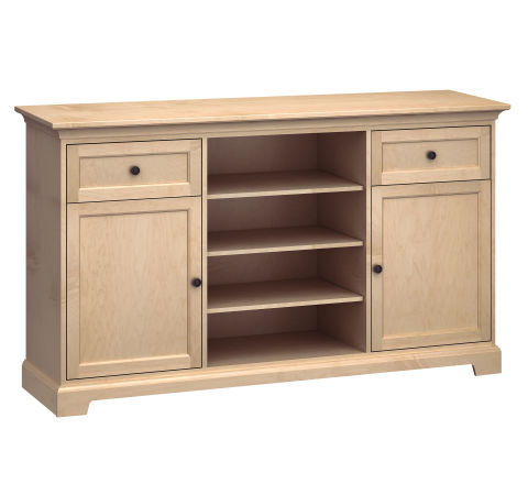 """72"""" Wide TV Console: Two Doors, Two Drawers"""