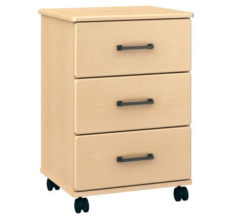 Amare Three Drawer Bedside Cabinet (Casters)