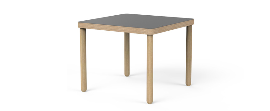 Pax Lounge Collection - Pax Tables w/Wood Legs – Square