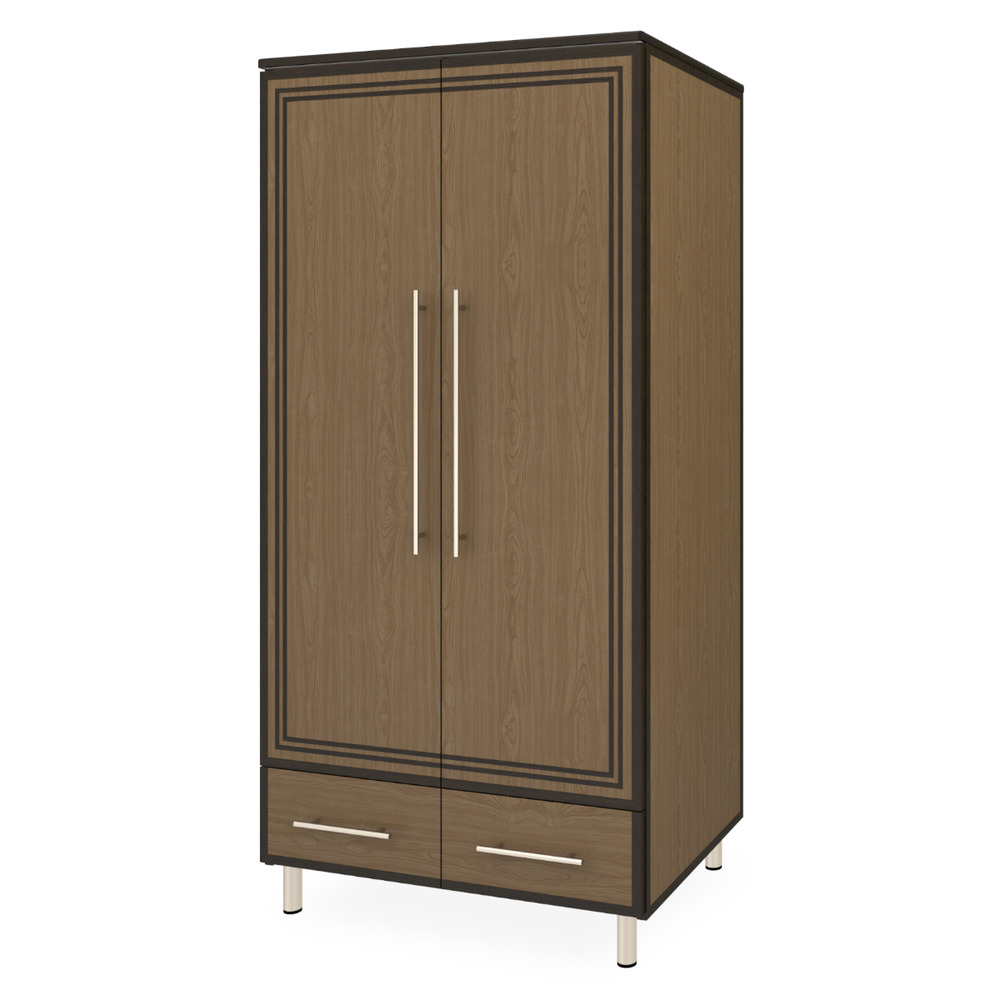 Chicago Alzheimers Double Wardrobe, 2 Drawers, 2 Doors