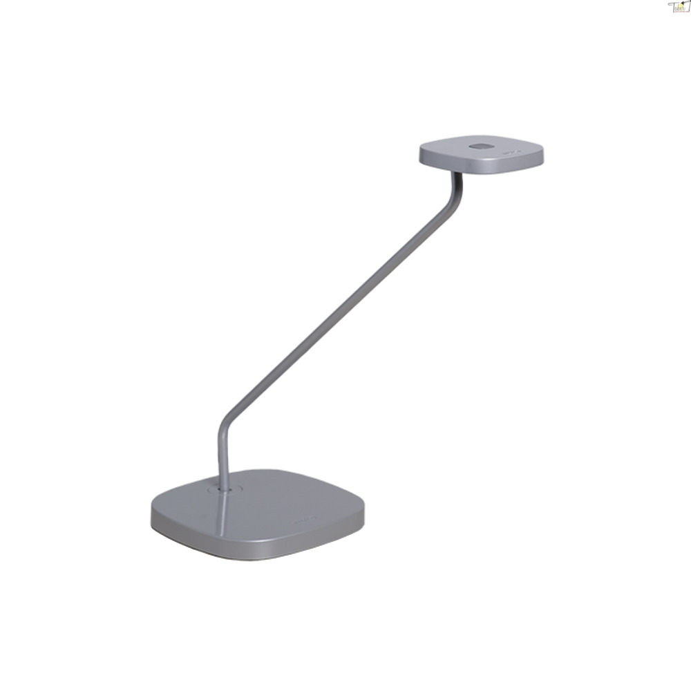 Luxo Trace LED task light with table/desk base and USB port, Silver Grey