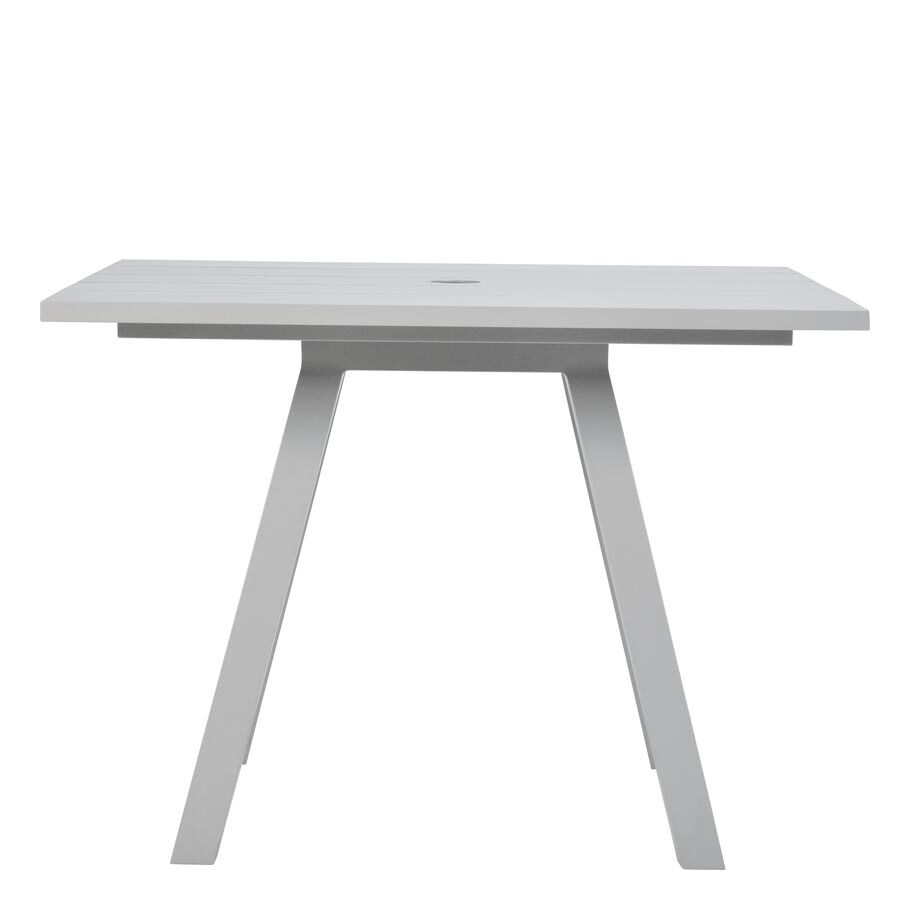 DOLCE VITA DINING TABLE SQUARE 100 WITH UMBRELLA HOLE