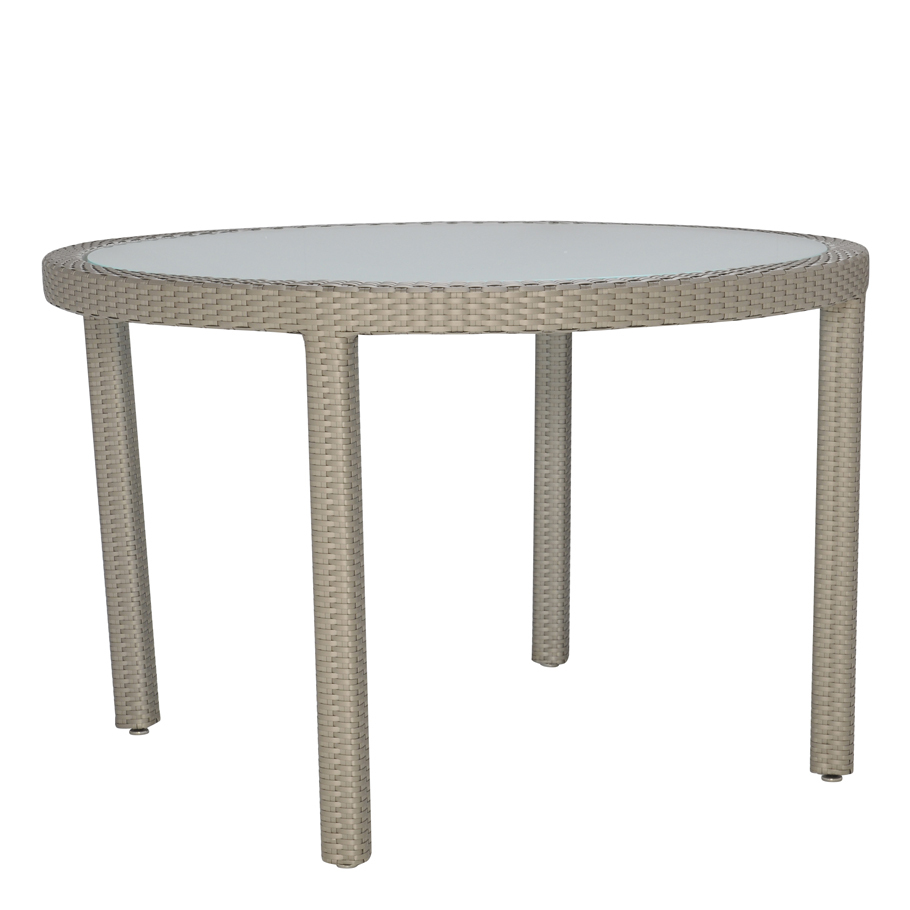 JANUSFIBER GLASS TOP DINING TABLE ROUND 119