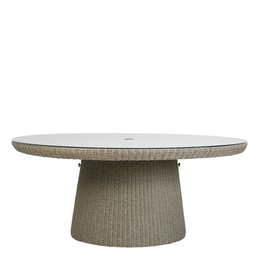 STRADA GLASS TOP DINING TABLE ROUND 181