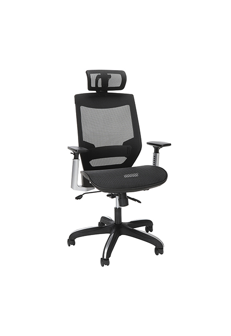 Model 525-BLK OFM Core Collection Full Mesh Office Chair with Headrest, Lumbar Support