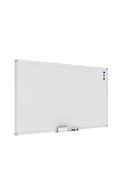Model ESS-8501 Essentials Collection Magnetic Whiteboard with Aluminum Frame and Tray, 47 x 30