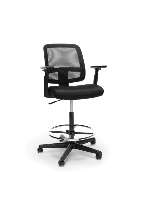 Model E3036 Essentials Collection Mesh Back Stool with Adjustable Arms