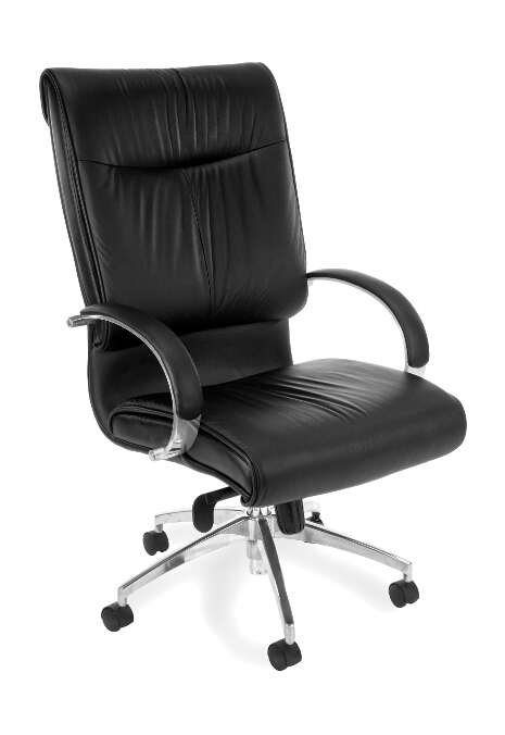 Model 510-L Sharp Series Leather High-Back Executive Office Chair with Knee Tilt
