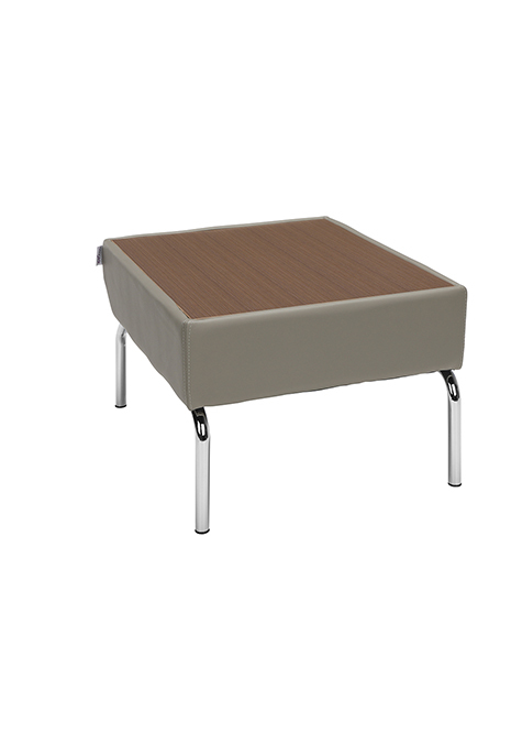 Model 3010 Triumph Series Laminate Top Table with Vinyl Border and Chrome Frame